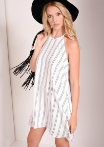 Macey White Stripe Swing Dress  (10 of 22)