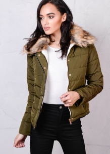 brown-faux-fur-collar-quilted-padded-puffer-jacket-coat-khaki-green-trixie2