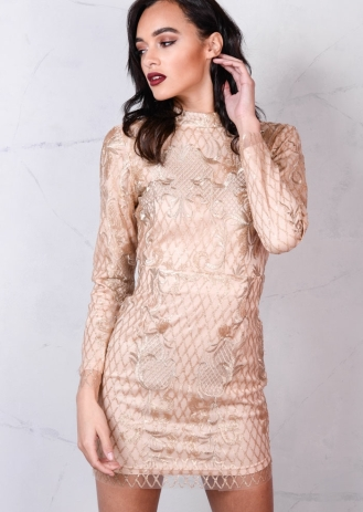 nude-sequin-backless-mini-bodycon-dress-gold-sonata-1-3